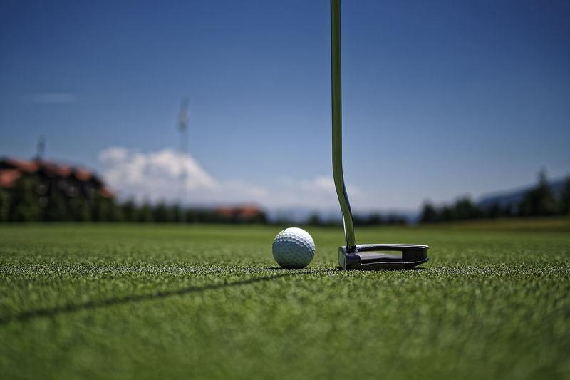 Close-up of golf club