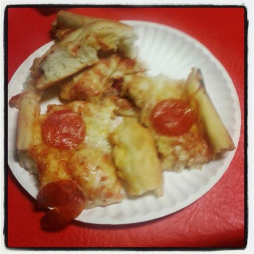 Lol my massive plate of pizza which I'm about to SLAAAAM!! ;)
