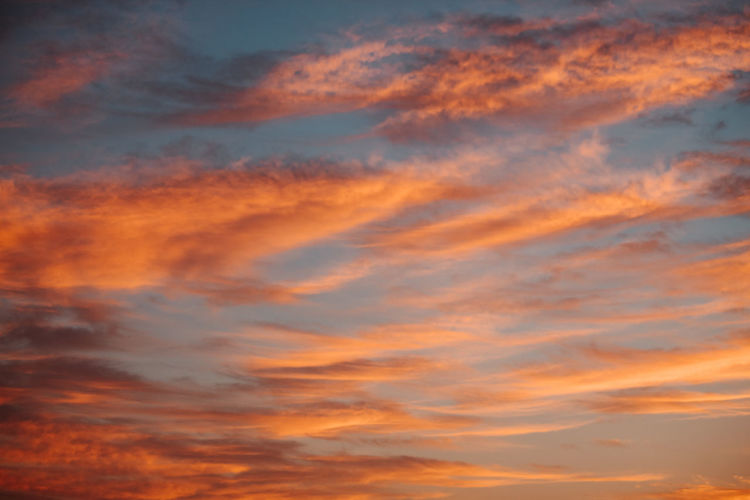 Cloud - Sky Sky Sunset Beauty In Nature Scenics - Nature Tranquility Orange Color Low Angle View Tranquil Scene No People Idyllic Nature Backgrounds Dramatic Sky Outdoors Full Frame Dusk Awe Moody Sky Meteorology Romantic Sky Springtime Decadence