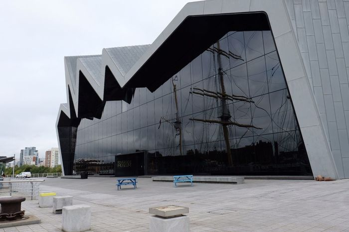 Architecture Built Structure Building Exterior No People Outdoors Day Modern Sky Riverside Museum Glasgow