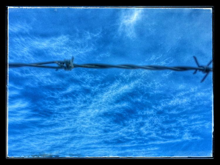 Pretty cool how the clouds looked today one of tjose pictues doesnt do it justice .,✌???Barbed Wire Wednesday Barbwire Wednesday Clouds And Sky Cloudporn
