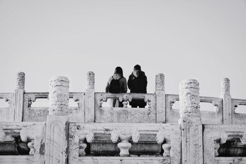 Outdoors Memorial Day People Sky Young Adult Black And White Silhouette Old Building  Temple Of Heaven Park Beijing, China FUJIFILM X-T10 Light And Shadow Palace Travel Ancient Civilization King - Royal Person Building Exterior Couple