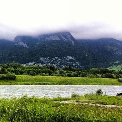 Bei schlechtem Wetter werden die Alpengipfel abgeschaltet.
