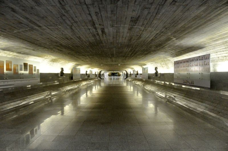 Architecture Built Structure Ceiling Day Illuminated Indoors  Large Group Of People People Real People Transportation Tunnel