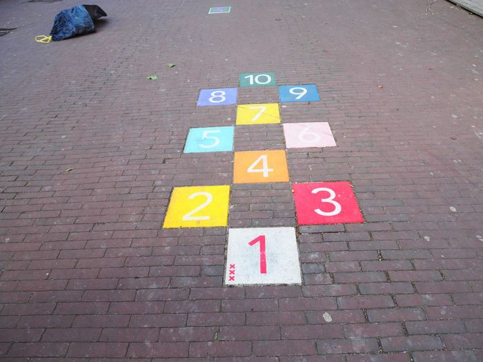 Colorful numbers on street