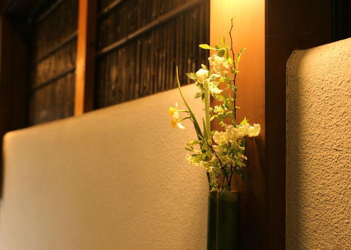 Flower vase in japanese temple