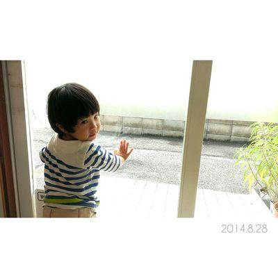 はい、ポーズ! っていうと、、振り向いてポージング◎笑 1歳10ヶ月 男の子 息子 子供 ig_kidsig_oyabakabuchildren22ヶ月親バカ親ばか部ig_beautiful_kidsしましまGLOBALWORK