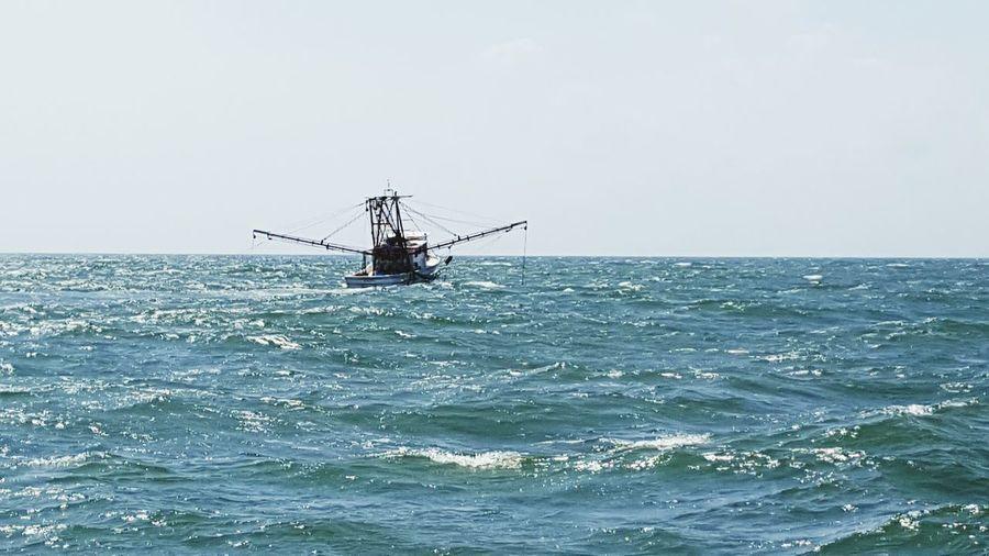 Shrimp boat on