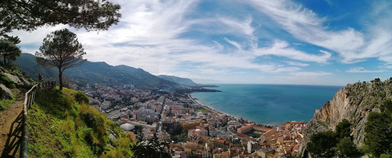 Cefalu Sicily panorama from la Rocca Cefalu  EyeEm Selects City Tree Cityscape Water Sea Mountain Beach Aerial View Sky Architecture Seascape Coastline Residential District Pine Woodland Rocky Coastline TOWNSCAPE Panoramic Tree Area Residential Structure Pinaceae Settlement Human Settlement Ocean Calm Coastal Feature Coast Foreground Pine Tree