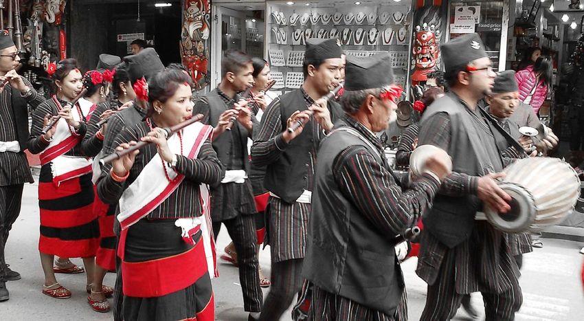 Colors Of Carnival Red Street Photography Jatra Festival Kathmandu, Nepal Thamel Newari Culture Culture And Tradition People Auspicious