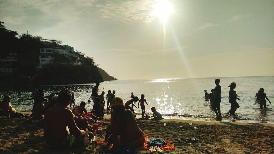 Sea Beach Friendship Sunlight Happiness Taganga Colombia