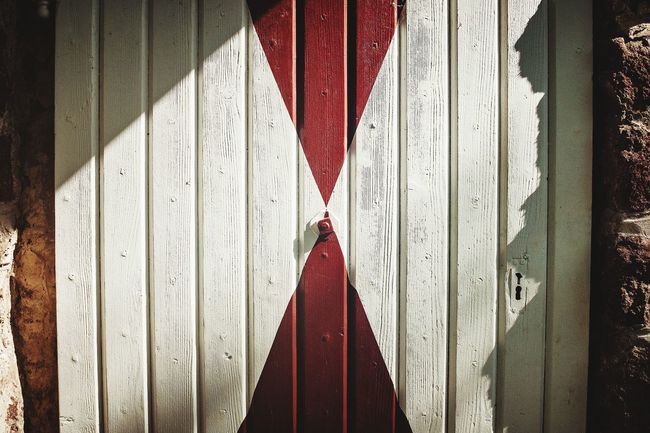 kratos EyeEm Selects Red Wood - Material Close-up Architecture Closed Door Corrugated Iron Corrugated Shutter Wooden