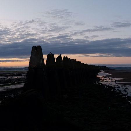 Edinburgh Scotland Beach Architecture Water Sunset Cramond