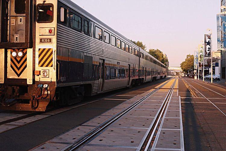 The Street Photographer - 2017 EyeEm Awards Railroad Track Public Transportation Outdoors Photographer Canoneos6d Photography Shotbyme Sunset Jack London Square EyeEmNewHere