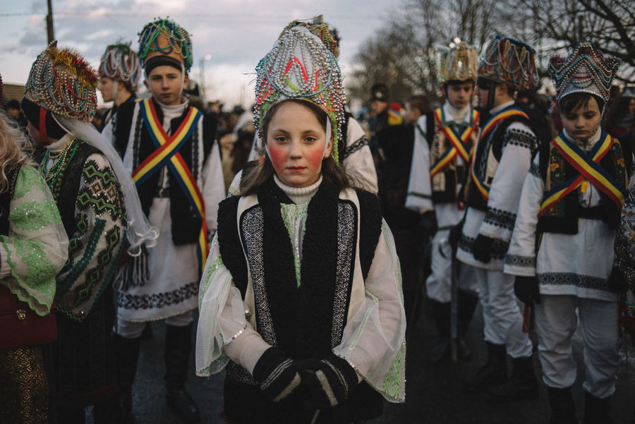 Group of the kings, significant part of the carnival group in Crasna village, Ukraine. The Photojournalist - 2017 EyeEm Awards