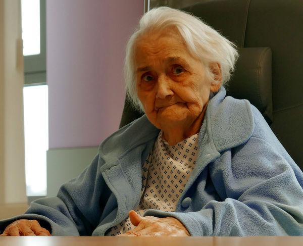 Old Woman Hospital Geriatrics Dressing Gown