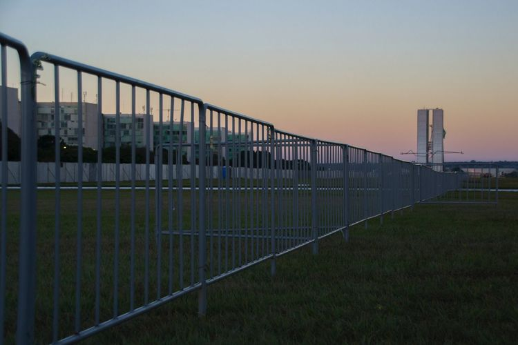 Muro Na Esplanada Esplanada Esplanada Dos Ministérios Impeachment