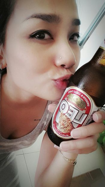 Too hot not to drink it ;) Relaxing Chill At Home That's Me I Love Beer!