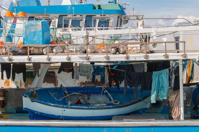 Deck of a fishing ship, Cyprus, Limassol Cyprus. Limassol Limassol Cyprus Marine Cyprus Water Nautical Vessel Transportation Mode Of Transportation Harbor Moored Sea Fishing Industry Fishing Day No People Outdoors Ship Fishing Net Fishing Boat