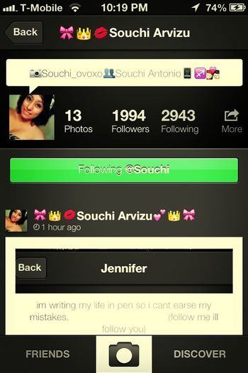 Shout Out To Souchi:)! Follow Her:)!<3