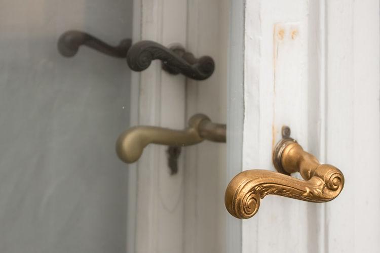 Close-Up Of Door Handles