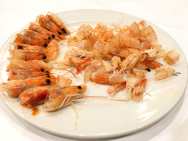 Close-up Eating Food Food And Drink Freshness Healthy Eating High Angle View Indoors  Luxury Many No People Plate Prawn Ready-to-eat Reataurant Seafood Serving Size Trash White Background