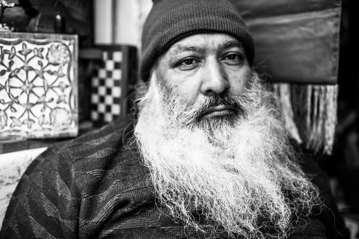 The Portraitist - 2015 EyeEm Awards Santaclaus Old Delhi India