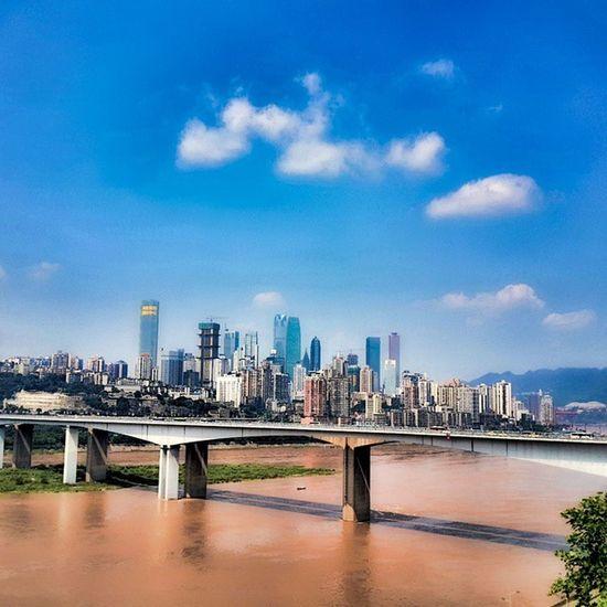 My City beauty Helloworld followmearchitecture colours chongqing China ,重庆长江大桥