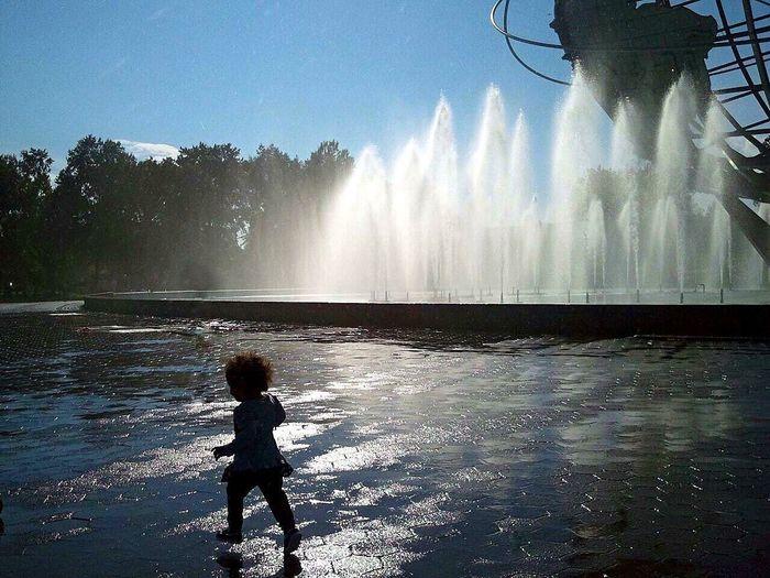 Innocence Flushing Meadow Park Childatplay Silhouette NYC Queens Queensnyc Unisphere Falldays