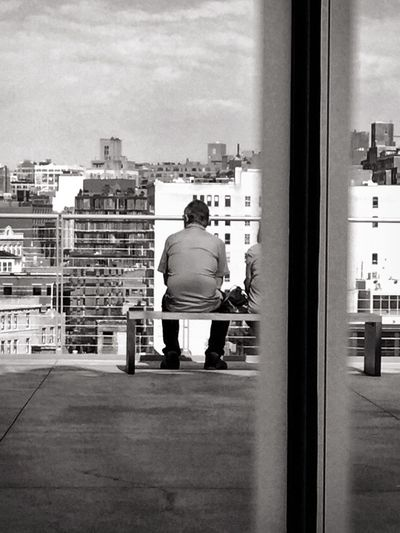 Contemplating NYC from Whitney Museum NYC