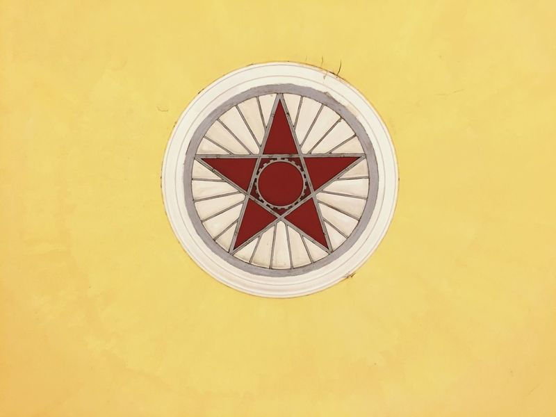 Circle Yellow Red No People Close-up Indoors  Day Red Red Star Star Comunism Catalunya Barcelona Moscow Red Color Yellow Color