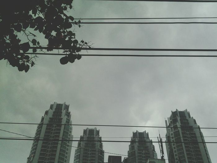 it was dark at noon :( City Jakarta Rainy Day