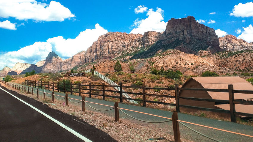 Canyons Zion National Park Zion Canyon Mountain Rock Formation Rocky Outdoors Blue Cliff Cloud - Sky Beauty In Nature Rocky Mountains Tranquil Scene Sky Mountain Range Tranquility Solitude Day Scenics Beauty In Nature