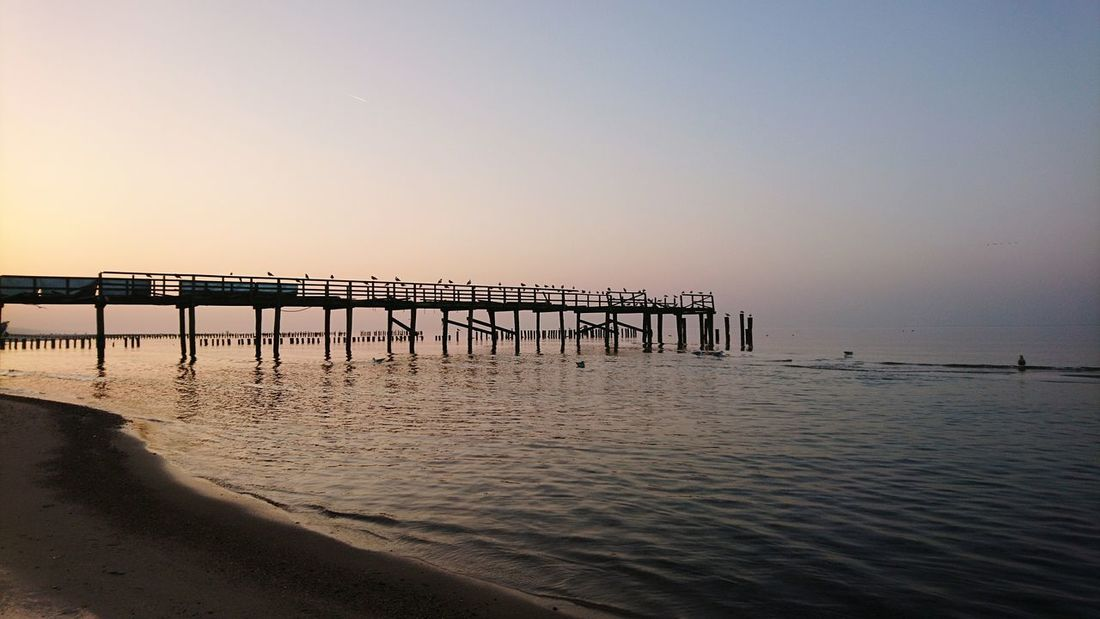 Sunset Sea Beach Beauty In Nature Nature Water Pier Tranquil Scene Horizon Over Water Sky Idyllic Clear Sky Tranquility Scenics Landscape After The Storm Baltic Baltic Sea Winter