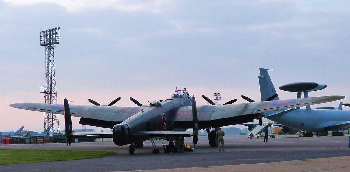 Lancaster Bomber Air Force Royal Air Force Airplane Air Vehicle Military Airplane Transportation Military No People