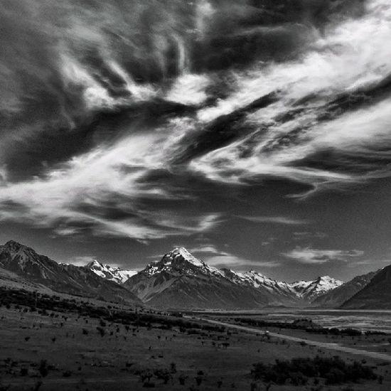 Sony Nex Nex5n Skopar 21mm bw bnw bnw_society blackandwhite monochrome voigtlander mtcook newzealand landscape