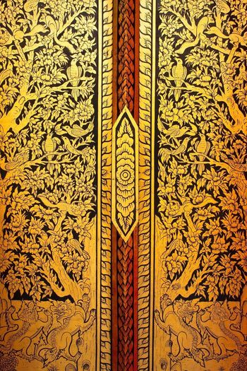 Temple door Full Frame Backgrounds Pattern Indoors  Close-up No People Day
