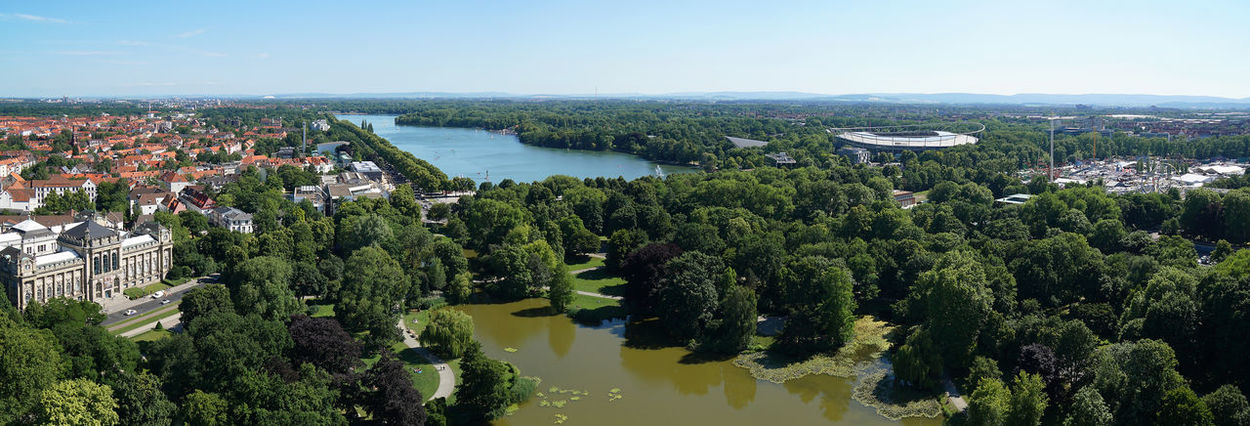 City Cityscape Elevated View Germany Green Hannover Maschsee Maschteich Nature Panorama Panoramic View Scenics Südstadt Town Travel