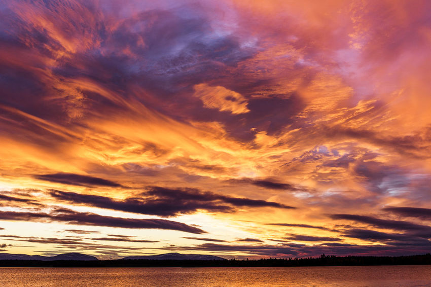 Planet Earth Tranquility Tranquil Scene Nature Photography Sweden Sunset_collection Lake View Lake Autumn Sunset Water Dramatic Sky Orange Color Majestic Sky Cloud - Sky Landscape Moody Sky Meteorology Heaven Atmospheric Mood Horizon Over Water Cloudscape Idyllic Romantic Sky