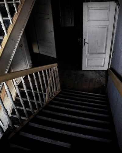 Spooky House Staircase Steps Steps And Staircases Indoors  Architecture Built Structure No People Day Abandoned Photography Urbexexplorer Urbex Architecture Minute Hand Clock Gravestone EyeEmNewHere Factory Communication Goodday Abdoned Bildung Abonded Buildings Travel Graffiti Angel