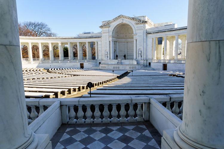 Memorial Amphitheater At Arlington National Cemetery Against Sky