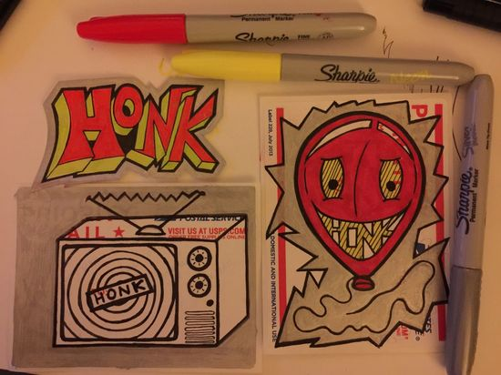 Streetart Street Art/Graffiti Slaps  Stickerart Sticker Art Street Art Stickerbomb Sticker Drawing Clownsec