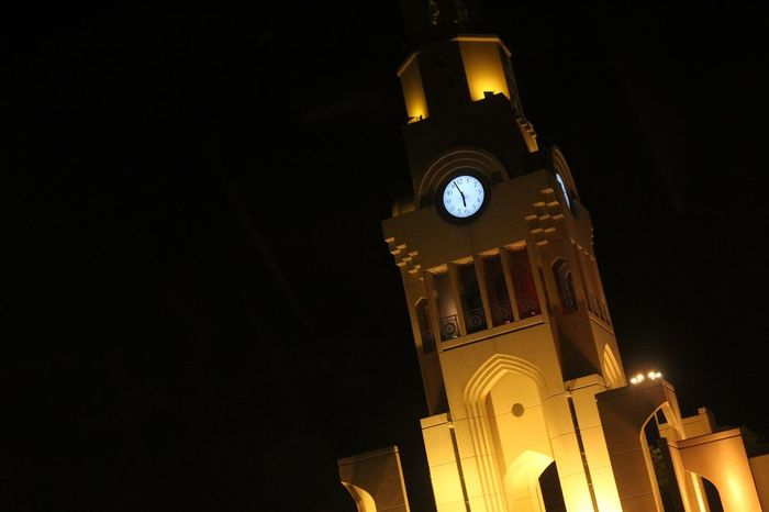 Clock Clock Tower Time Clock Face Night Travel Destinations Architecture Tower Building Exterior No People Religion Illuminated Built Structure Outdoors Astronomical Clock Minute Hand Roman Numeral Astronomy Sky Politics And Government EyeEmNewHere
