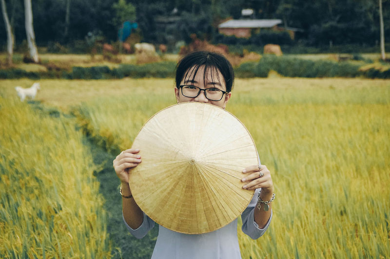 Rice Paddy Cereal Plant Wheat Rural Scene Women Scarecrow Agriculture Science Field Farmer