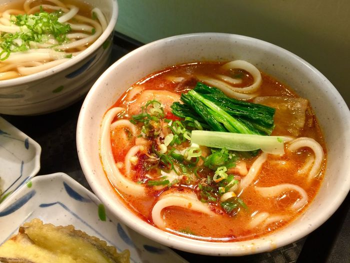 Spicy Noodle Food Food And Drink Healthy Eating Soup Pasta Bowl Freshness Italian Food High Angle View Asian Food Still Life No People Wellbeing Ready-to-eat Vegetable Table Serving Size Noodle Soup Soup Bowl Indoors