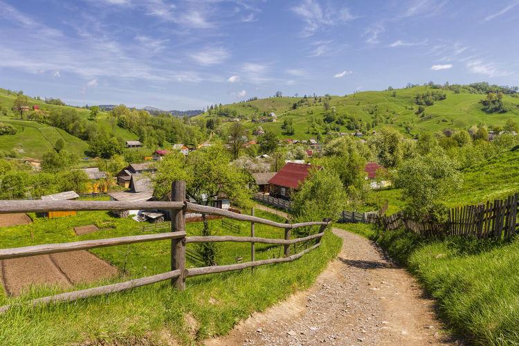 Carathians Hills Hills And Valleys Hills, Mountains, Sky, Clouds, Sun, River, Limpid, Blue, Earth Spring Springtime Transcarpathia Transcarpathian Region Ukraine