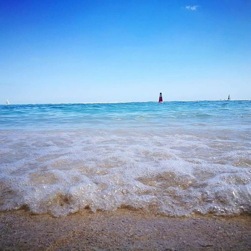 Horizon Over Water Sea Beach Water Sand Sunny Summer Sky Travel Destinations Outdoors Landscape Tourism Blue Vacations Nature Beauty In Nature Clear Sky Scenics Day Outdoor Pursuit