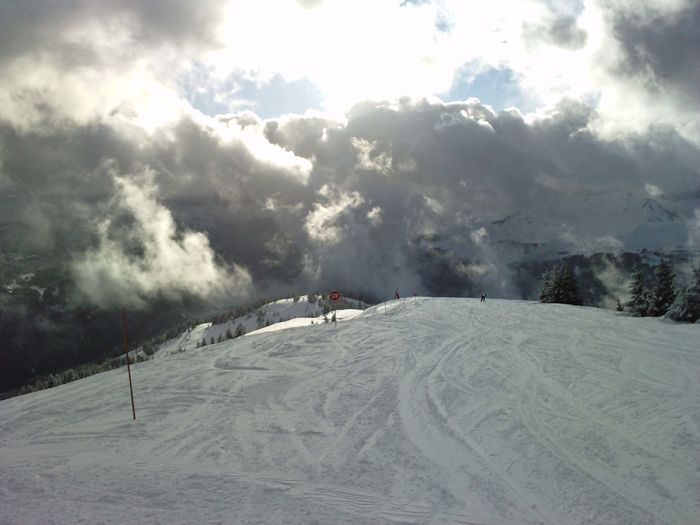 Clouds And Sky Cloudy Cold Temperature Landscape Les Gets Majestic Mountain Ski Sky Winter