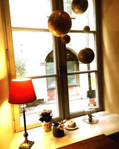 Old town, gamla stan Window Oldtown Gamla Stan Indoors  Home Interior Table Window Sill No People Day Architecture