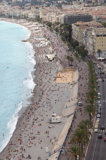 Beach Life Côte D'Azur France Nizza Aerial View Architecture Beach Building Exterior Built Structure City Cityscape Day High Angle View Nice No People Outdoors Sea Sky Tree Water
